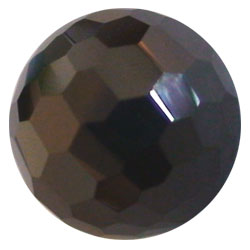 10mm Facet Black CZ