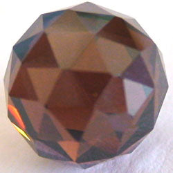 12mm Brown CZ Diamond Cut