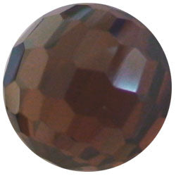 10mm Facet Brown CZ