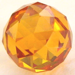 8mm Citrine CZ Diamond Cut