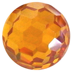 10mm Facet Citrine CZ