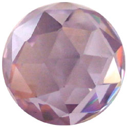 10mm Lavender CZ Diamond Cut