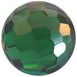 8mm Facet Emerald Green CZ