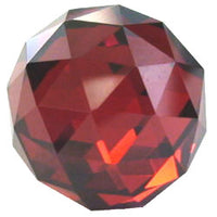 12mm Red CZ Diamond Cut