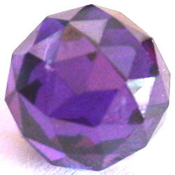 10mm Violet CZ Diamond Cut