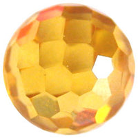 10mm Facet Yellow CZ