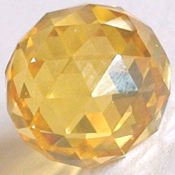 10mm Yellow CZ Diamond Cut