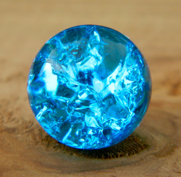 12mm Clear Cracked Caribbean Blue