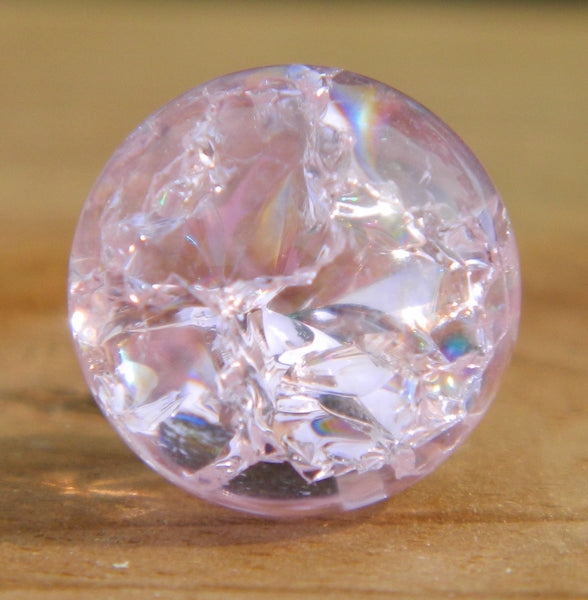 8mm Clear Cracked Pink