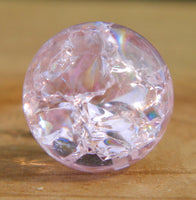 10mm Clear Cracked Pink