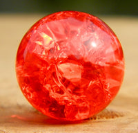 12mm Clear Cracked Red
