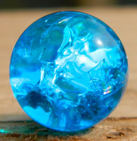 14mm Clear Cracked Electric Blue