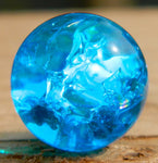 8mm Clear Cracked Electric Blue
