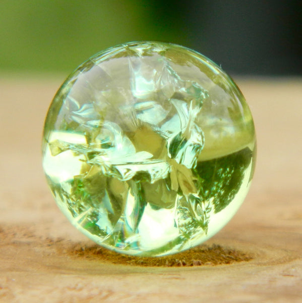 12mm Clear Cracked Peridot