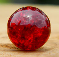 12mm Clear Cracked Dark Red