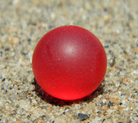 8mm SeaGlass Red