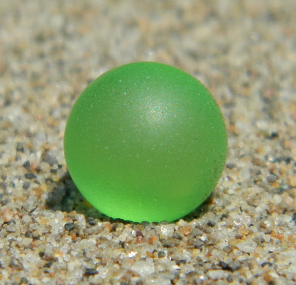 12mm SeaGlass Pistachio Green