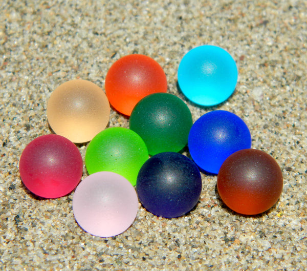 10mm 10 SeaGlass Stones