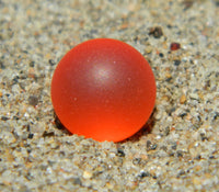 8mm SeaGlass Orange