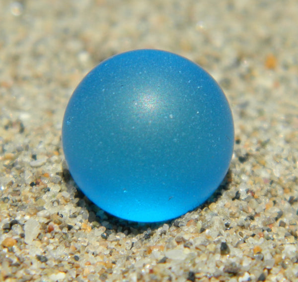 8mm SeaGlass Electric Blue