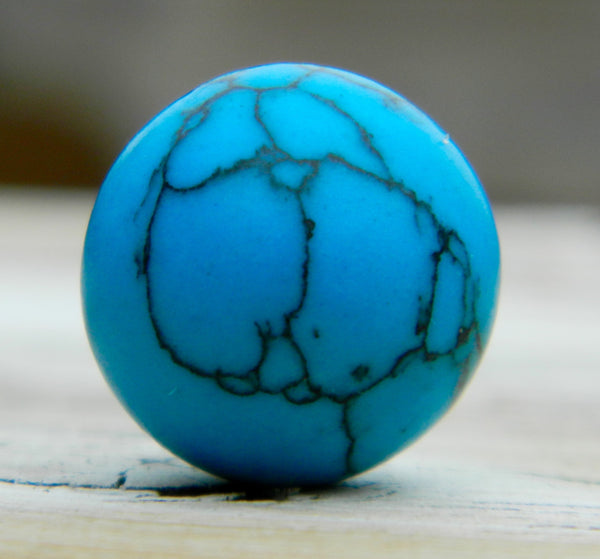 14mm Turquoise Howlite