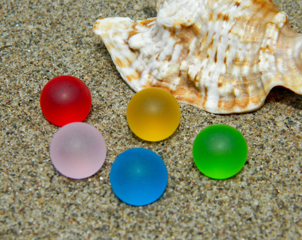 12mm 5 SeaGlass Stones