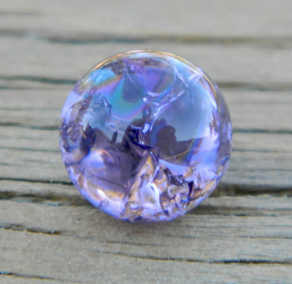 10mm Clear Cracked Amethyst