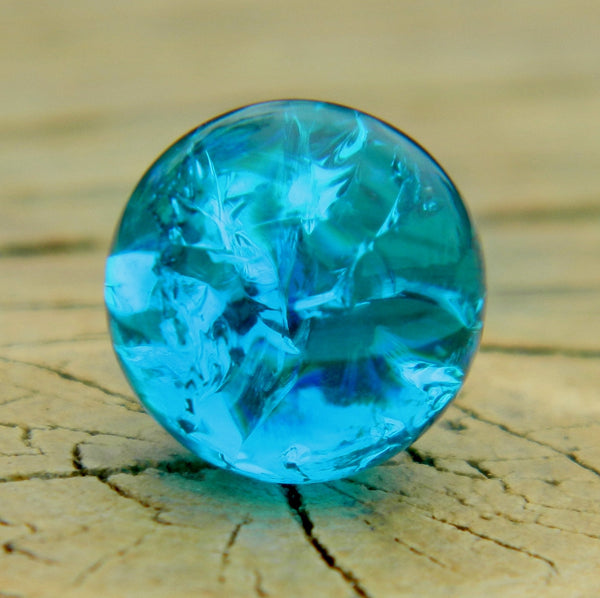 10mm Clear Cracked Ocean Blue