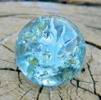 12mm Clear Cracked Sky Blue