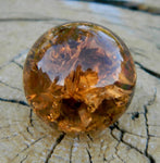 14mm Clear Cracked Amber