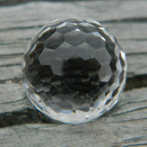 8mm Facet Clear Crystal