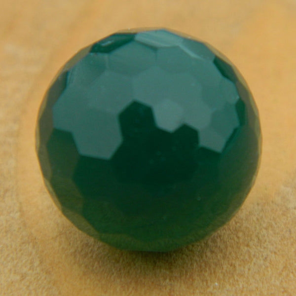 12mm Facet Green Onyx