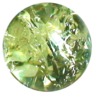 10mm Clear Cracked Peridot