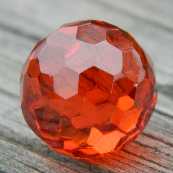 8mm Facet Orange CZ
