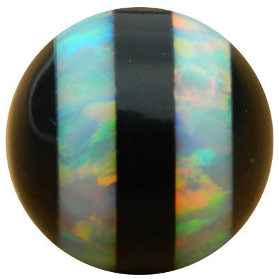 10mm White Double Striped Opal