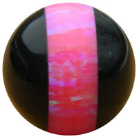10mm Hot Pink Striped Opal