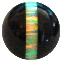 12 mm Green Striped Opal