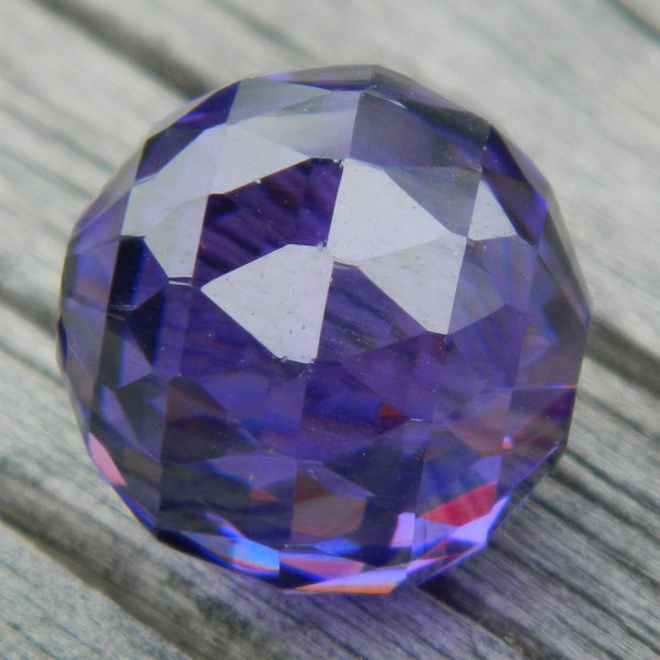12mm Violet CZ Diamond Cut