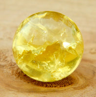 10mm Clear Cracked Yellow