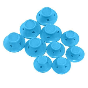 10pcs Silicone Hair Curler - Blue