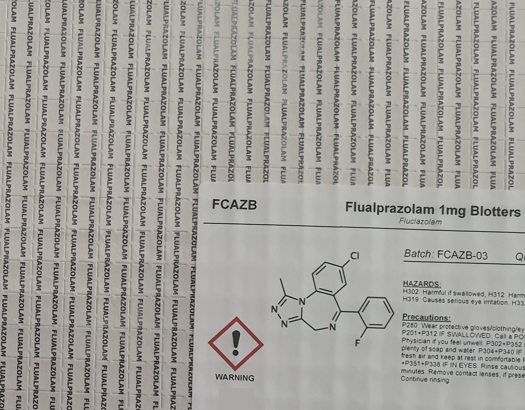 New supply of fluclazolam blotters available - Order now