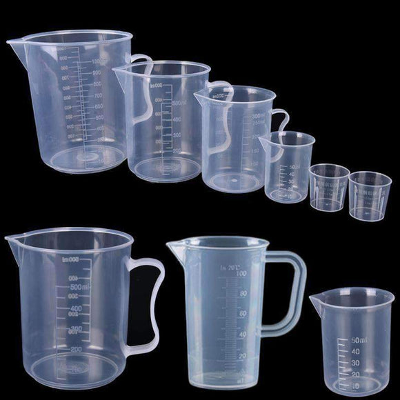 Plastic measuring cups in different sizes - Utility - RC Discount Shop