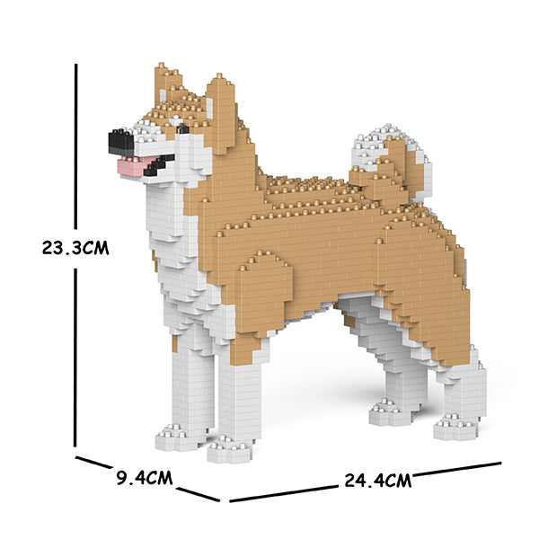 JEKCA Animal Building Blocks Kit for Kidults Akita Inu 01S-M02