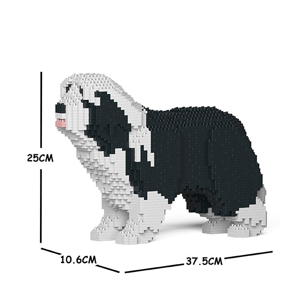 JEKCA Animal Building Blocks Kit for Kidults Bearded Collie 01S-M01