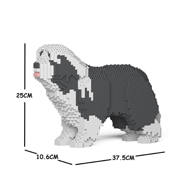 JEKCA Animal Building Blocks Kit for Kidults Bearded Collie 01S-M03