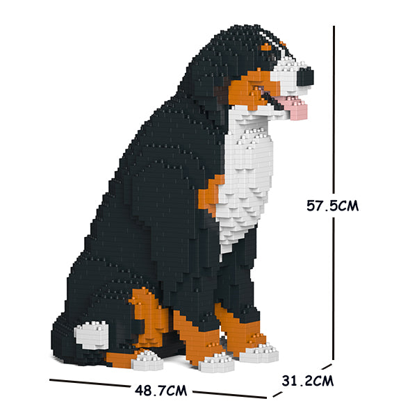 JEKCA Animal Building Blocks Kit for Kidults Bernese Mountain Dog 04C