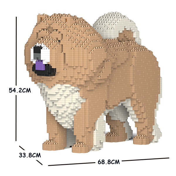 JEKCA Animal Building Blocks Kit for Kidults Chow Chow 02C-M01