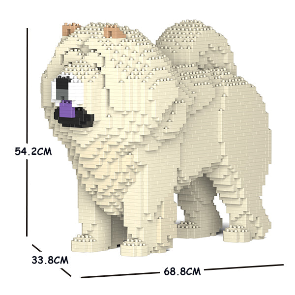 JEKCA Animal Building Blocks Kit for Kidults Chow Chow 02C-M04