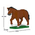 JEKCA Animal Building Blocks Kit for Kidults Horse 02C-M01
