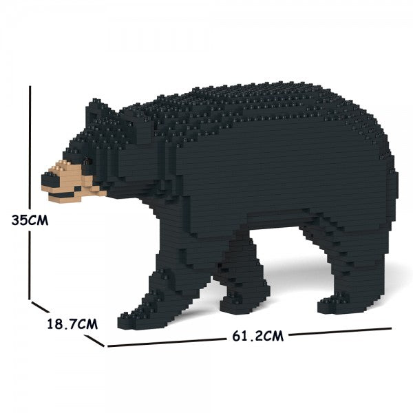 JEKCA Animal Building Blocks Kit for Kidults Black Bear 01C